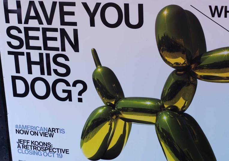 Jeff Koons taidematkustaja